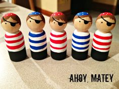 Pirate Peg Doll by CraftThatParty on Etsy, $8.00