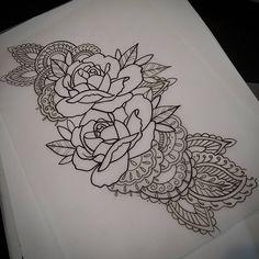 tattoosxgabriel Rosas y mehndi sketch #tattoo #tattoolife #tattoo2me #dotworktattoo #blxckink #formink #mehndi #mehnditattoo #tattooargentina #hindutattoos #mdq #btattooing #flashworkers #flash_tattoo #rosestattoo #rose #rosas