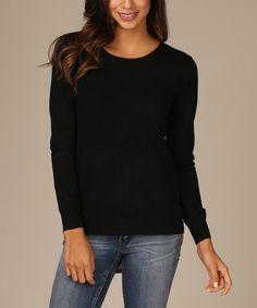 Loving this Black Cheetah Zip-Back Sweater on #zulily! #zulilyfinds