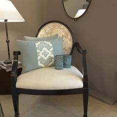 Cuscino decorativo in lino azzurro e bianco cuscino di THhomedecor