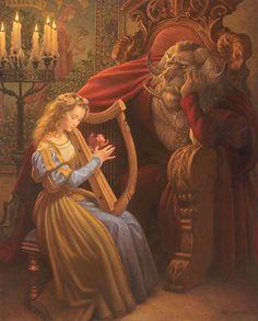 Beauty & The Beast (Illustrations Of Classic Fairy Tales From The Brothers Grimm) Classic Fairy Tales, Fairytale Art, Thomas Kinkade, Book Illustration, People Illustration, Disney Art, Belle Photo, Illustrators, Fantasy Art