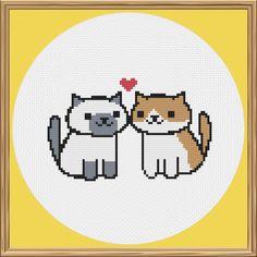 Neko Atsume Cat Cross Stitch Pattern