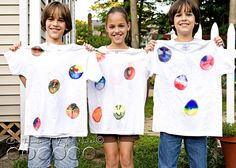 T-shirt craft with Sharpie Markers and rubbing alcohol