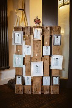 Wer sitzt eigentlich wo? Eine tolle Alternative zu herkömmlichen Platzkarten ist ein Sitzplan. Durch ihn können sich eure Hochzeitsgäste schon zu Beginn viel leichter einen Überblick über die Raumsituation verschaffen. Passend zur rustikalen Hochzeit haben wir unseren Plan aus einer Holzpalette mit verschiedensten Bilderrahmen für jeden einzelnen Tisch geschaffen. So einfach und doch so besonders und schön <3  _____ Fotografie: André Groß Photography  #hochzeit #tischplan #rustikal #sitzplan Planer, Calendar, Holiday Decor, Wedding, Home Decor, Decor Wedding, Wedding Table Plans, Seating Plan Wedding, Place Cards