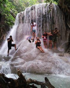 There's that unexplainable feeling when you shower under a waterfall curtain... #nature #waterfalls #cebuwaterfalls #travelcebu #aguinidfalls #samboancebu #chasingwaterfalls