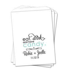 Wedding Candy Bags Popped The Question Customized Personalized Buffet Party Favor Treat Bag Set Of 2 Printed Designs In