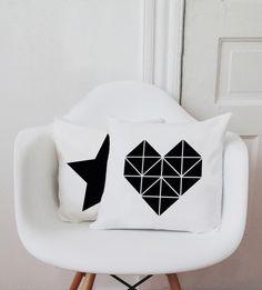 Kissenbezug / Origami Herz