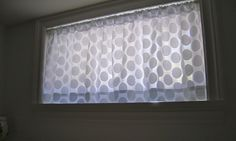 Small window treatments for basement