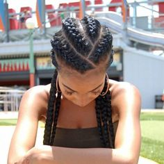 Black braided hairstyles 527554543844105532 - Ghana Braids is a popular hairstyle in African countries. The Africans are highly skilled in making this hairstyle which looks sexy and stylish. This hairst Source by curlcentric Box Braids Hairstyles, Half Braided Hairstyles, Smart Hairstyles, Twist Hairstyles, African Hairstyles, Gorgeous Hairstyles, Hairstyles Pictures, Black Hairstyles, Curly Hair Styles