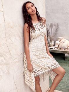 Lais Ribeiro wears Free People Just Like Honey Mini Dress for 2017 lookbook