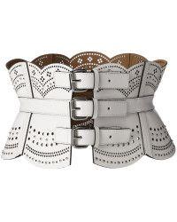 50efdc6600 BCBG Maxazria white corset belt