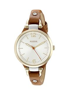 """Fossil Women's ES3565 """"Georgia"""" Gold-Tone Stainless Steel Watch with Brown Leather Band Fossil http://www.amazon.com/dp/B00HG0AC7I/ref=cm_sw_r_pi_dp_MRsjwb0EJK45W"""