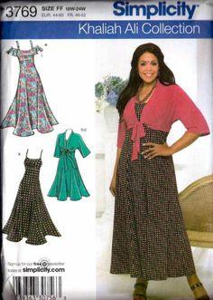 Simplicity Sewing Pattern 3769 Plus Size Dress Kimono Top 18W 24W Uncut   eBay