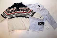 2pc Nautica Plaid Boys Sweater Outfit Hoodie and Shirt Set 12 Mos First Year NEW…