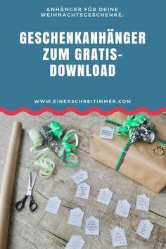 Geschenkanhänger zum Gratis-Download für Weihnachten. #Weihnachten #Geschenkanhänger #Freebie #Download #kostenlos