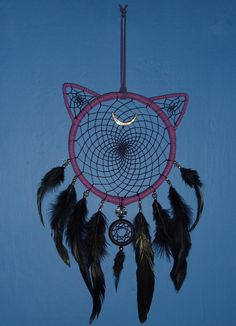 *** Dream Catcher Details *** - Hoop Size: 14cm wooden hoop - Small Hoop Size: 3.5cm - Hanging Length: approx 40cm - Hoop is covered in Faux Leather