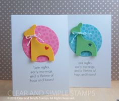 Love the sentiment. Clear and Simple Stamps