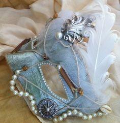 Lady Sea Siren  Vintage Venetian Mask by MaskedEnchantment on Etsy