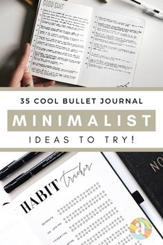 Bullet Journal Minimalist Ideas that you can try! Bullet Journal Minimalist, Bullet Journal Mood, Bullet Journal How To Start A, Bullet Journal Spread, Bullet Journal Printables, Bullet Journal Themes, Bullet Journal Inspiration, Journal Pages, Journal Ideas