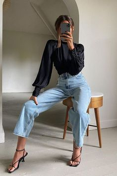 Looks Street Style, Looks Style, Mode Outfits, Fashion Outfits, Womens Fashion, Fasion, Fashion Ideas, Classy Outfits, Stylish Outfits