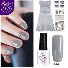 1.54$  Buy here - Sexy mix 7ML UV Gel Color Polish Manicure Vernis Semi Permanent French Grey Color Nail Gel Polish Led UV Color Nail Gel Polish   #buymethat
