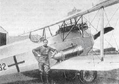 Phönix D.II with spare fue tank
