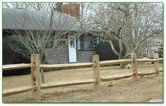 Cedar Split Rail Fence With Galvanized 2x4 Welded Wire