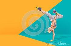 A young woman dancing aerobics, fitness dance or zumba Aerobics, Zumba, Dancing, Fresh, Activities, Woman, Fitness, Fun, Image