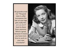 Retro Magnet  The good news about menopause  by AngelicAspirations, $2.75