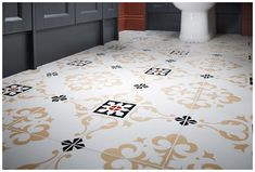 Vintage fleur wall tiles evoke a feeling of Victorian elegance #Roseberry #paintedtimber #tiles #bathroomfurniture #myutopia