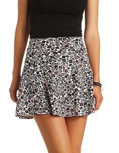 Ditsy Floral Print Skater Skirt: Charlotte Russe