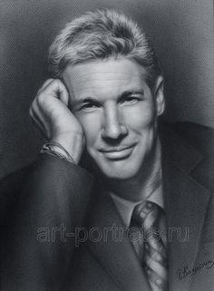 Dry Brush Portrait of Richard Gere by Igor Kazarin