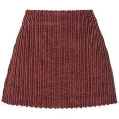 Isa Arfen Supersize Corduroy Mini Skirt