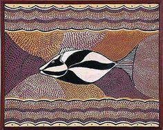Leo Melpi (1940- ), Waringarri Aboriginal artist, synthetic