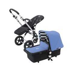 They dont call them Cameleons for nothing! This special-edition fabric set lets you change the color of your Bugaboo Cameleon in a snap, to sport a vibrant jewel exterior and black-and-white striped canopy interior. With this tailored-to-fit set, you can swap out your sun canopy, stroller base, and bassinet apron all at once, making it easy to customize and update your look. Its almost like getting a whole new stroller!