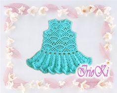 Graficos y Crochet: vestido bebe