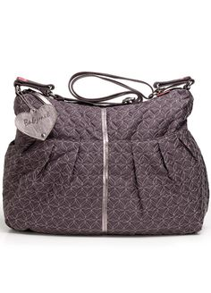 Babymel - Amanda Quilted Nappy Bag in Pewter - Baby Change Bags - Queen Bee Maternity Wear Online