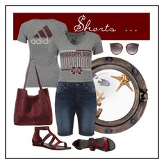 """""""Shorts"""" by ul-inn ❤ liked on Polyvore featuring adidas, Kiomi, Silver Jeans Co. and Lacoste"""