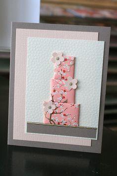 Japanese washi cards Light color