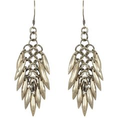 Shakti Earring found on Polyvore featuring polyvore, women's fashion, jewelry, earrings, accessories, brincos, shoes, allsaints, chain link jewelry and spiked earrings