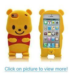 SaveGood Cartoon 3D Winnie the Pooh Soft Case Cover for Apple iphone 5 5s 5g #SaveGood #Cartoon #3D #Winnie #Pooh #Soft #Case #Cover #Apple #iphone #5s #5g