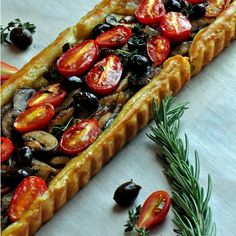 Pissaladière~ A French Tart with Caramelized Onions, Mushrooms & Tomatoes recipe on Food52