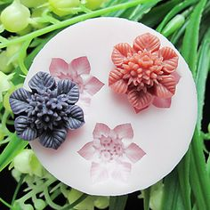Three Cell Flower Silicone Mold Fondant Molds Sugar Craft Tools Resin flowers Mould Molds For Cakes – USD $ 5.49