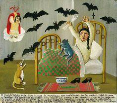 Retablos — The Carlota Valdez's house was filled with bats....