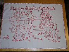 Míves-Hímzés Kft. - G-Portál Vintage Embroidery, Clip Art, Punch, Art Ideas, Needlepoint, Dressmaking, Drawings, Red, Embroidery