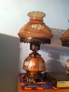 lamps in ezpikins' Garage Sale in Plano , TX for $20. Two brownish rose colored antique lamps.