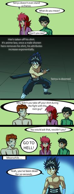 Yu Yu Hakusho (Haha! Lanipator's abridged YYH is the best thing ever. I love it so much. Check it out on youtube if you haven't already seen it.)