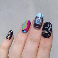I put my nail polish like a pro! - My Nails Cute Nails, Pretty Nails, Coffin Nails, Acrylic Nails, Hair And Nails, My Nails, Nail Design Glitter, Nagellack Design, Nail Decorations