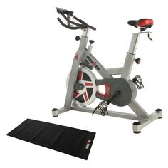 IRONMAN H-Class 520 Magnetic Tension Indoor Cycle Trainer with Bonus Equipment Mat - 6251