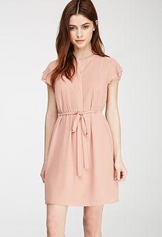 Pintucked Chiffon Dress | FOREVER21 - 2052288405